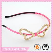 Cheap Wholesale China Manufacturer Thin Metal Bow Headband Hair Accessories