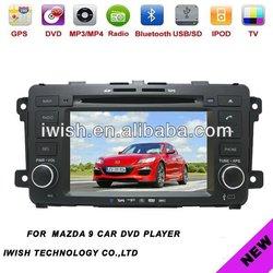 7 inch auto radio gps car dvd 2 dins for MAZDA-9 with wifi