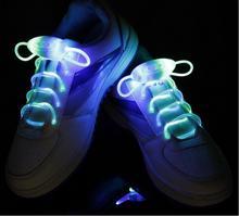 LED Sport Shoe Laces Flash Light Up Glow Stick Strap Shoelaces Disco Party Club 2015 New Arrival Promotion