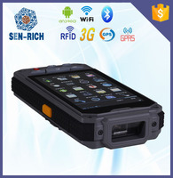 """Android 4.3"""" touch screen wireless handheld pda data collector with 1D 2D barcode scanner WIFI GPRS"""