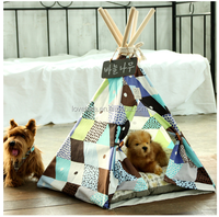 promotion cat dog bed tent pet teepee tent playhouse EN71 rohs certification cute pet easy tent