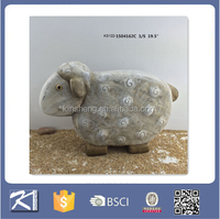 garden ornaments handmade polished ceramic sheep