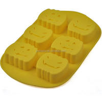 JIASHI brand cute shapes FDA/LFGB/SGS standard silicone biscuit baking tin