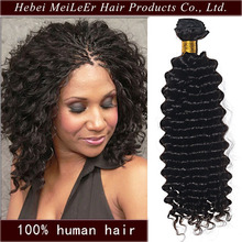 High quality wholesale factory price100% deep wave deep curl remy human hair