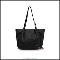 Black leather handbag tote bag leather
