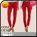 el último rojo baratos de moda los pantalones ajustados de las niñas