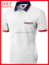 cotton/polyester fabric Men's polo shirts with nice collar/cuffs