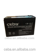 Ceba Shenzhen Manufacturer electronics UPS battery 12v 7ah sealed lead acid battery