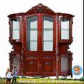 de lujo 2014 muebles de madera maciza puerta 4 vino gabinete hecho a mano classica
