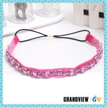 Hair accessory for women,rhinestones crystal hairband,pink hair band