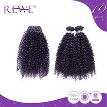 Top Quality Portable And Endurable Curly Human Afro Kinky Hair Weft Weave Gray