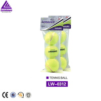 Hot sale wholesale Professional training 3pcs packing Natural rubber tennis balls