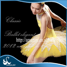 2015 new style Top selling Stretch Beautiful ballet dance costume for sale