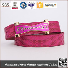2015 newest Fashion Brand England lady's PU Belt for export for dress