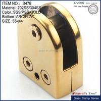 90 deg Round Base Glass Clamps 304ss Glass to Glass connector - Mirror