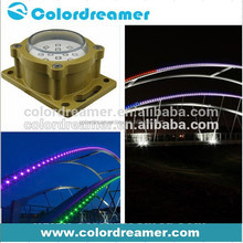 Outdoor waterproof flexible 2.5w led pixel string light for facade lighting