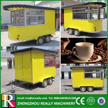 Factory supply mobile food coffee cart kiosk van trailer for sale