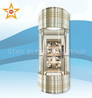 Residential Panoramic Glass Elevator For Hotel