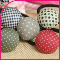 Grid cloth and hair bands hair accessories Five-pointed star hair bands elastic tire