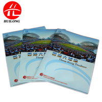 2015 new office school supplies clear red color frosted PP A4 document presentation L shape file type folder with inner pocket