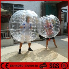 Amusing outdoor sports clear inflatable human soccer bubble knocker ball