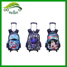 wholesale children school cartoon 3D trolley bag
