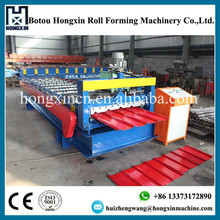 China Supplier Trapezoid Profile Colored Coated Steel Metal Roof Tiles Making Machine