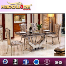 Modern stainless steel base italian marble dining table for sale
