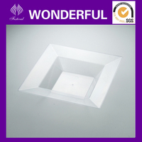 ES-04 names all fruit vegetables dispsable plastic square tray
