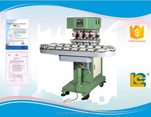 Large size and Easy control 4-color conveyor label, pen , toy , woodwork plastic product pad printing machine LC-SPM4-250/18L