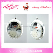 Trade Assurance Supplier xmas clear glass ball ornaments,Hand Blown clear glass flat ball glass christmas ornaments for tree