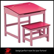 Kids Furniture High Quality Cheap Ikea Wooden Red Kids Table and Chair