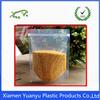 Customized printed plastic resealed food bag packaging design.
