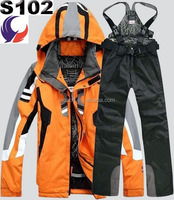Ski set jacket and pants winter outdoor windproof insulated waterproof jacket S102