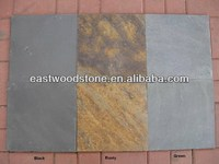chinese sell polished new granite countertop black/rusty/grey slate
