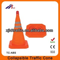 50CM high quality collapsible traffic cone with light