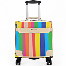 China Supplier Summer Fashion Colorful Women's Leather Travel Trolley Bag,Professional Trolley Travel Bag