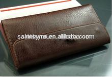 13012B Mens long leather wallet/purse billfold