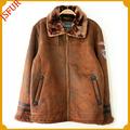 con estilo verdadera piel de oveja hecha de piel de ropa para hombre