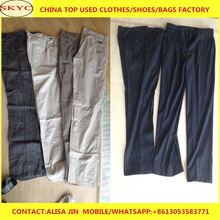 High quality Africa used clothing black Dress pants