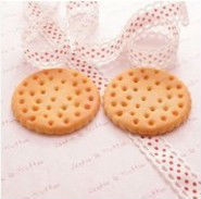 resin food Baked Big Round Biscuit Cabochons