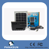 Solar power Energy LED Lighting System with 4.5Ah Battery and 2W LED Lighting