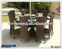 chrome and rattan furniture