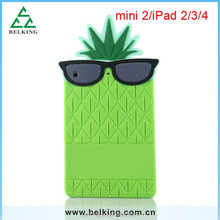 3D cute fruit silicone case for ipad 4 3 pineapple soft case