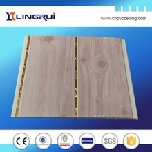 colorful painted wall board insulation and suspended solid marble grain tiles