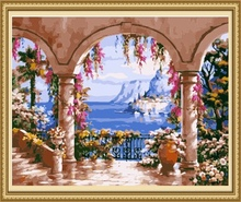 40*50cm home decoration oil painting landscape, painting by number