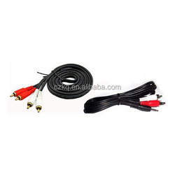Manufacturers of high-quality rca volume control vga to rca splitter 5 pole 3.5mm plug to 3 rca cable