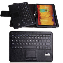 Bluetooth keyboard with touch pad for samsung galaxy note 10.1 2014 edition