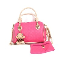 Young Women Designer Purses and Handbags with Pendant