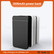wholesale Normal USB battery charger 5000mah Credit Card power bank from sinobangoo